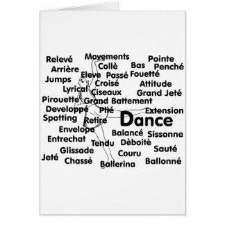 Balletttänzerhintergrund Tanz-Schwarzen Liter Karte