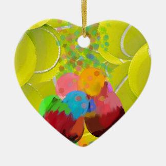 Ballglasballone Keramik Herz-Ornament