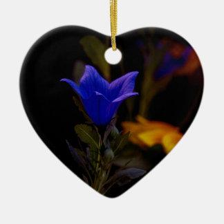 Ballon-Blumen Keramik Herz-Ornament