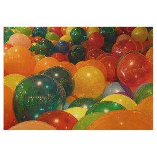 Ballon-bunter Party-Entwurf Holzposter