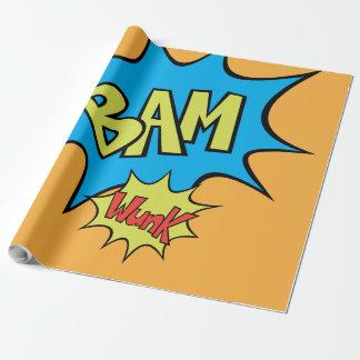 """Ballon des Comic-Buch-""""Bam"""" Geschenkpapier"""