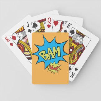"""Ballon des Comic-Buch-""""Bam"""" Spielkarten"""