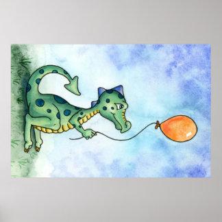 Ballon-Dracheplakat Poster