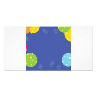 Ballon-Einzelteile mit verblaßter Eiscreme Individuelle Photo Karten