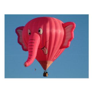 Ballon-Elefant Postkarte
