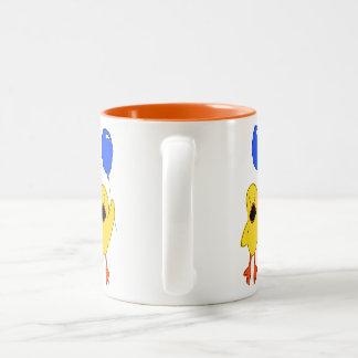 Ballon-Ente Zweifarbige Tasse