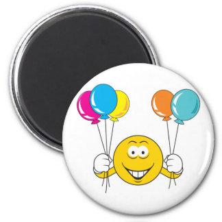 Ballon-Feier-Smiley Kühlschrankmagnet