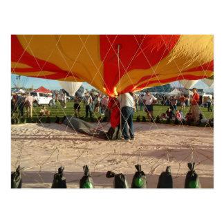 Ballon-Fiesta-Gas-Im Ballon aufsteigen Postkarte