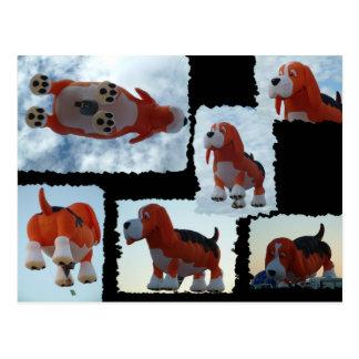 Ballon-Fiesta-Hund Postkarte