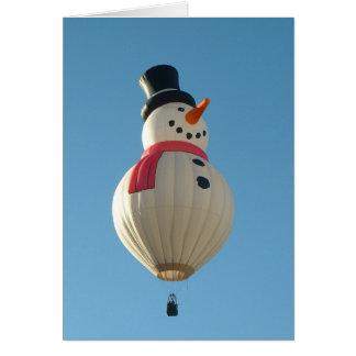 Ballon-Fiesta-Schnee-Mann Karte