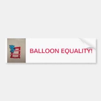 Ballon-Gleichheit! Autoaufkleber
