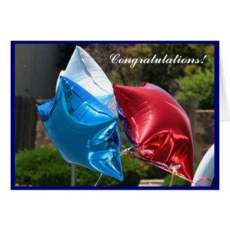 Ballon-Grußkarte der Glückwünsche patriotische Karte