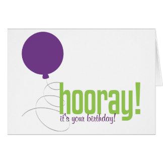 Ballon-Hooray Gruß Karte