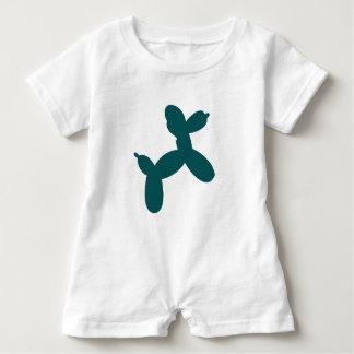 Ballon-Hundebaby-Spielanzug, aquamarin Baby Strampler