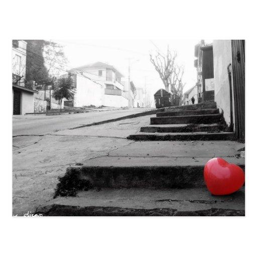 Ballon in der Straße Postkarte