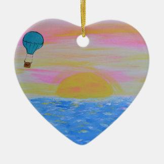 Ballon Keramik Herz-Ornament