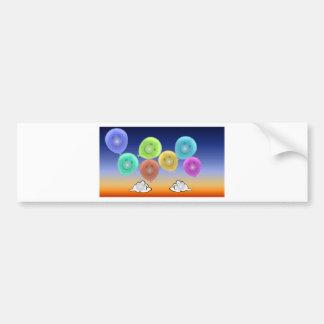 Ballon-Köpfe Autoaufkleber