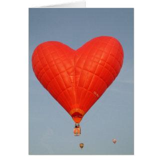 Ballon-Liebe ist in der Luft Karte