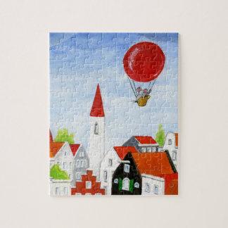 Ballon-Mäuse-u. Dach-Puzzlespiel Puzzle