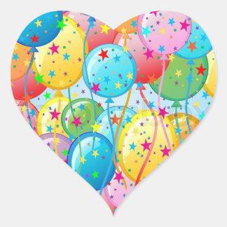 Ballon-Party-Aufkleber Herz-Aufkleber