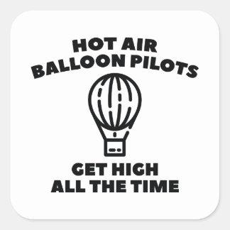 Ballon-Piloten Quadratischer Aufkleber