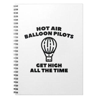 Ballon-Piloten Spiral Notizblock