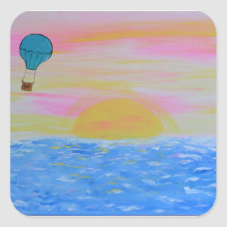 Ballon Quadratischer Aufkleber