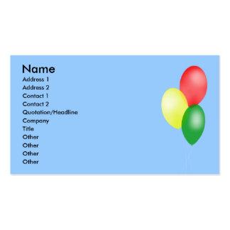 Ballon-Visitenkarten