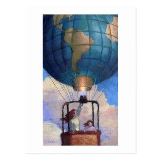 Ballon-Weltpostkarte Postkarte