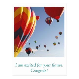 Ballone, bin ich während Ihrer Zukunft aufgeregt. Postkarte