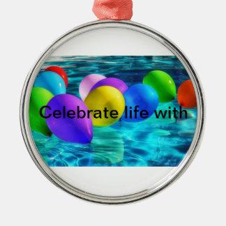 Ballone Silbernes Ornament