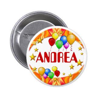 Ballone u. Sterne ~ Namen-Knopf Runder Button 5,7 Cm