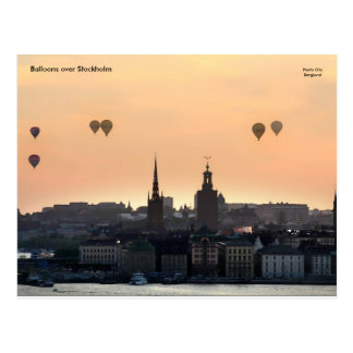 Ballone über Stockholm Postkarte