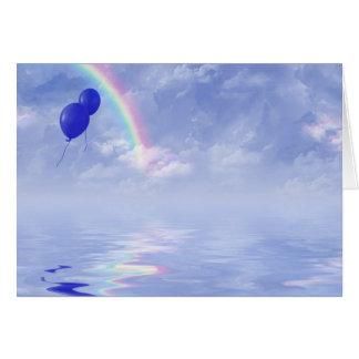 Ballone und Regenbogen Karte