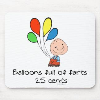 Ballone voll von Furzen Spaß Mousepad