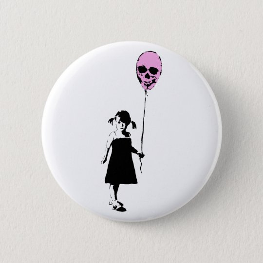 Balloon Girl Runder Button 5,7 Cm