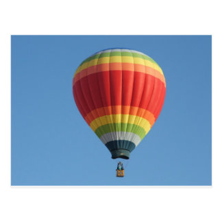 Baloon Heißluft des Regenbogens Postkarte
