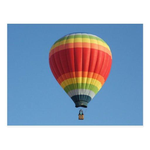 Baloon Heißluft des Regenbogens Postkarten
