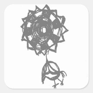 baloon Vogel Quadratischer Aufkleber