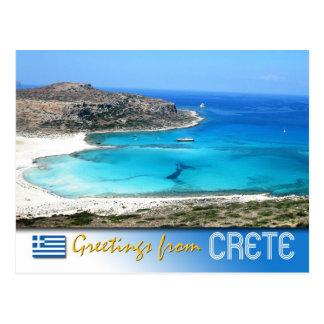 Balos Lagune-Strand, Kreta, Griechenland Postkarte