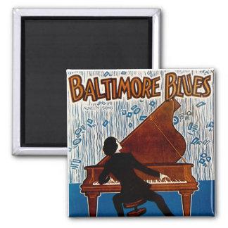 Baltimore-Blues Quadratischer Magnet
