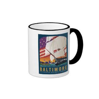 Baltimore: Durch das frühe Licht der Dämmerung Tee Tassen