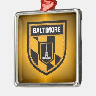 Baltimore-Flagge Silbernes Ornament