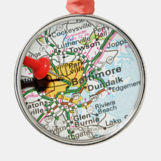 Baltimore, Maryland Silbernes Ornament