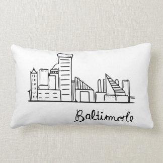 Baltimore-Skyline - Wurfs-Kissen Lendenkissen