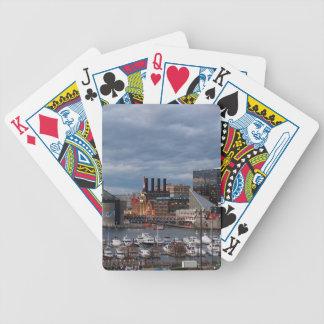 Baltimore-Sonnenuntergangs-Skyline Bicycle Spielkarten