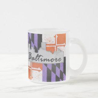 Baltimoreskyline-mattierte Tasse