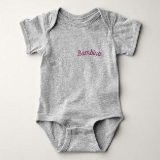 "Bambina/""Baby"" Mammaprada Bodysuit, grau Baby Strampler"