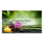 Bamboo Candle Stone Orchid Spa Massage Therapy Visitenkarten