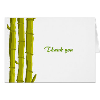 Bambus danken Ihnen Karte
